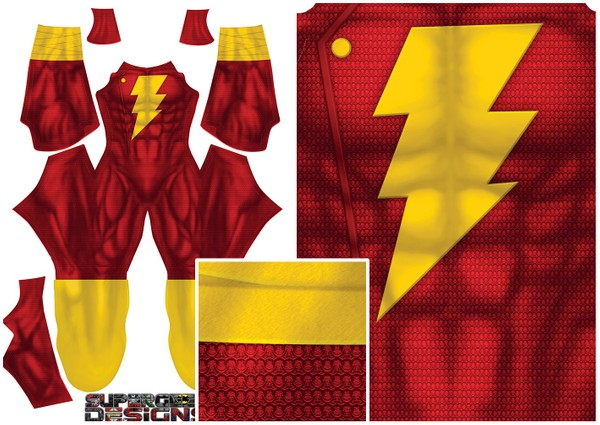 SHAZAM (Superman texture) pattern file