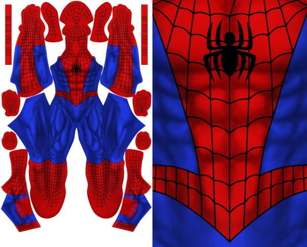 COMIC SPIDERMAN - (NO HEX PATTERN)