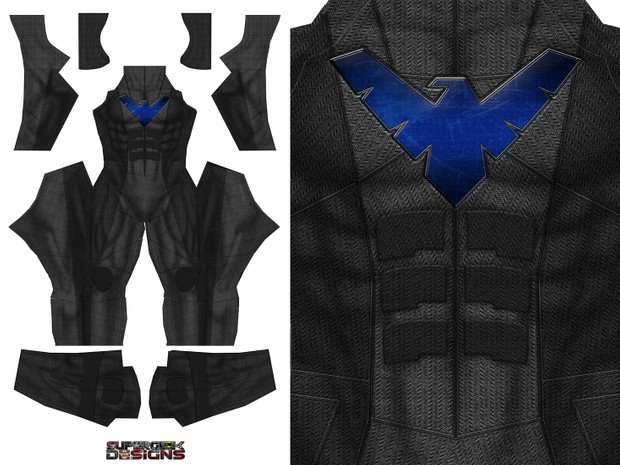 NIGHTWING JUSTICE LEAGUE style - pattern file