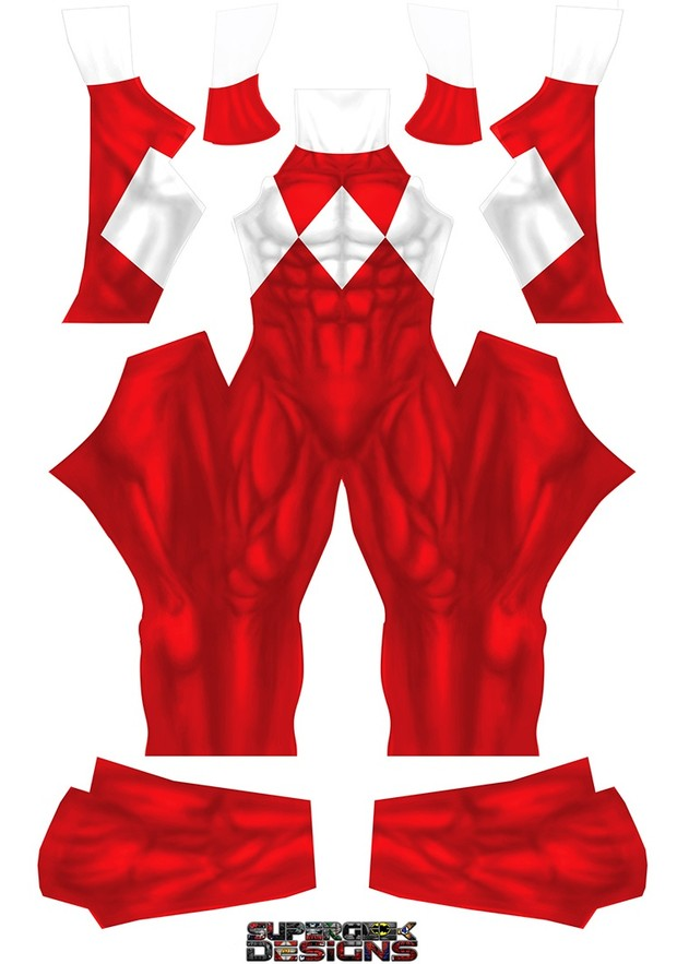RED POWER RANGER (PLAIN) pattern file