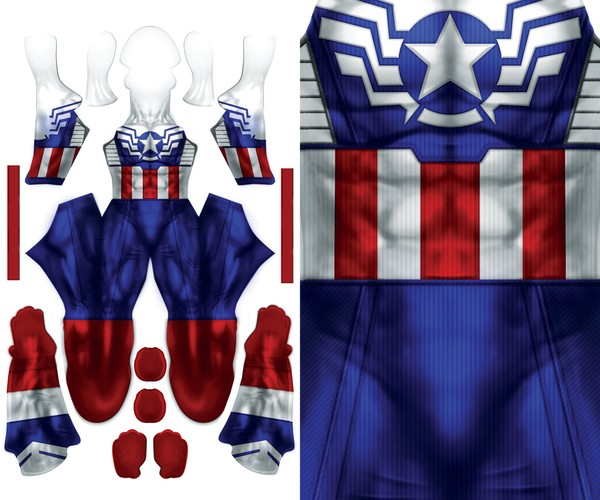 FALCON CAPTAIN AMERICA pattern