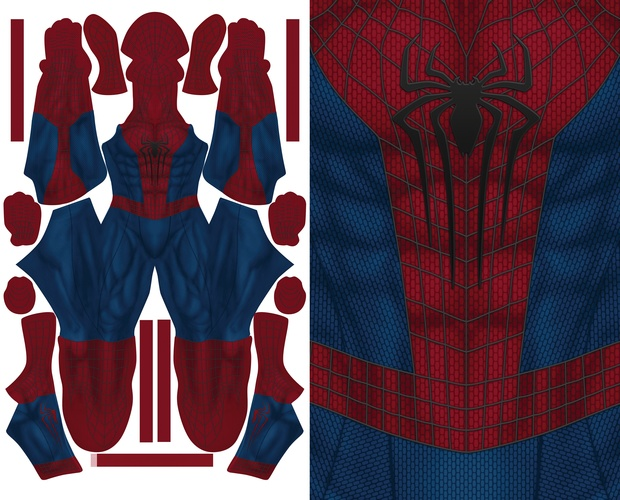 THE AMAZING SPIDERMAN 2 (new muscle base) pattern file