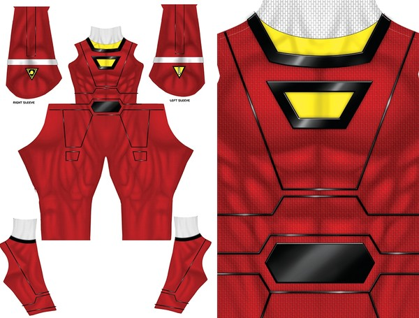 RED TURBO Power Ranger pattern file