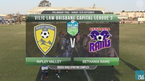 Vilic Law CL3 Preliminary Final Ripley Valley v Bethania Rams