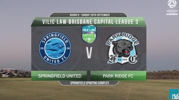 Vilic Law CL3 RD9 Springfield United v Park Ridge FC
