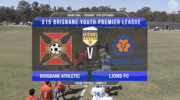 BYPL U15 Brisbane Athletic v Lions FC