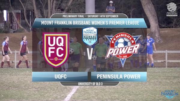 MFBWPL Prelim Final UQFC v Peninsula Power