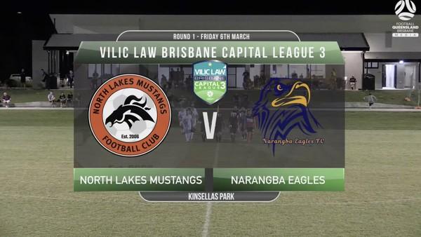 VLCL3 RD1 North Lakes Mustangs v Narangba Eagles