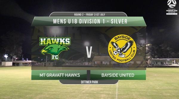 U18 DIV1 Silver Mt Gravatt Hawks v Bayside United RD2