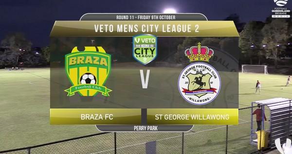 Veto Men's City League 2 RD11 Braza FC v St George Willawong