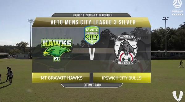 Veto Mens City League 3 Silver RD11 Mt Gravatt Hawks v Ipswich City Bulls