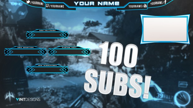 100 Subscribers Stream Overlay Template