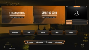 FREE TWITCH LIVE STREAM OVERLAY PACKAGE TEMPLATE 3