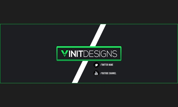 clean boxed twitter banner template vinitdesigns