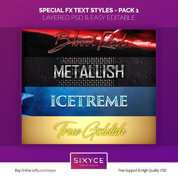 Special FX Text Styles - PSD (Pack 1)
