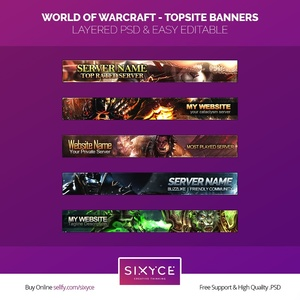 5 World of Warcraft - Topsite (PSD) Banners