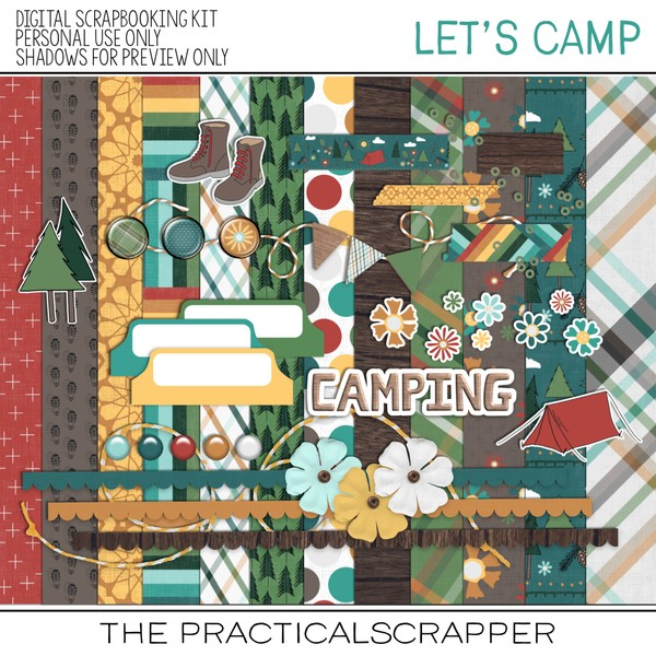 Let's Camp Digi Kit