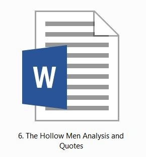 TS Eliot: The Hollow Men: Analysis and Quotes for HSC 2015-2020