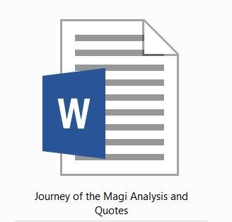 TS Eliot: Journey of the Magi: Analysis and Quotes for HSC 2015-2020