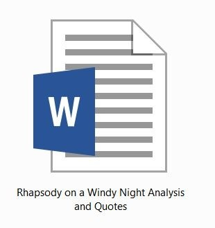 TS Eliot: Rhapsody on a Windy Night: Analysis and Quotes for HSC 2015-2020