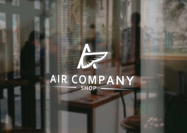 Air/wings company shop logo