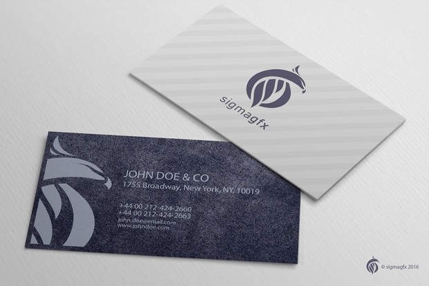 Free creative business card mockup