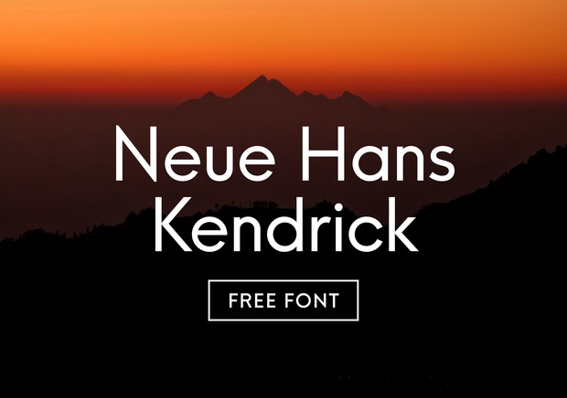 FREE FONT: Neue Hans Kendrick Regular