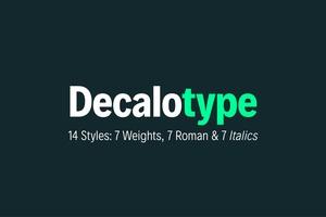 Decalotype Typeface