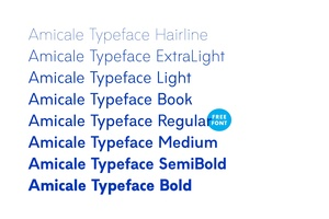 Amicale Typeface Family