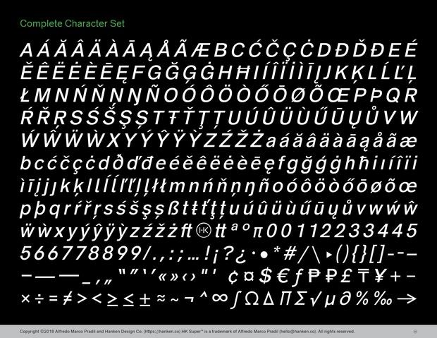 HK Super Typeface