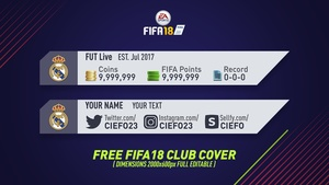 FREE FIFA 18 CLUB COVER / COIN COVER