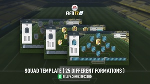 FIFA 17 Squad Template ( 25 Different Formations )