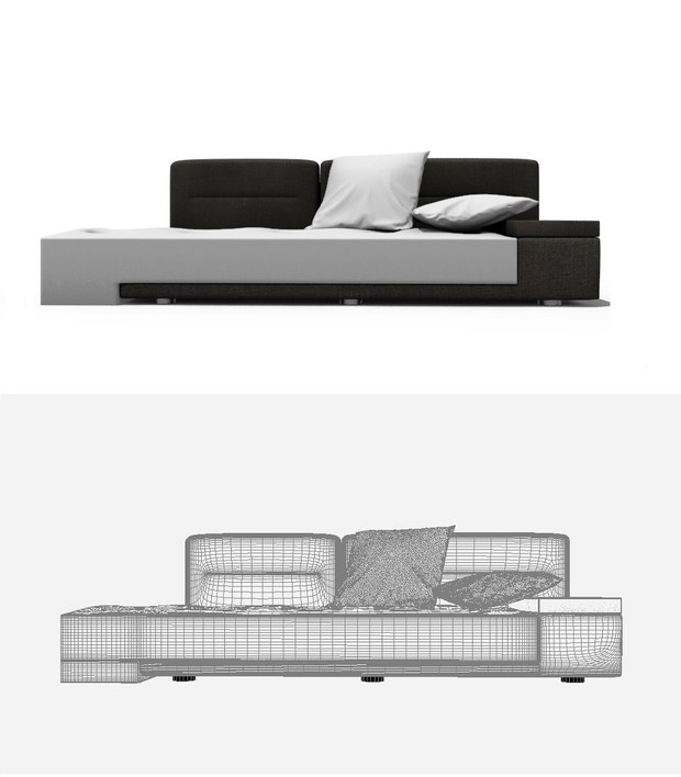 ¥Contemporary Daybed 3DS Max vray model