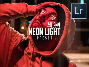FREE Neon Light Lightroom Preset |