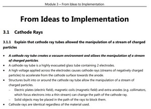 HSC Physics - Module 3 - From Ideas to Implementation