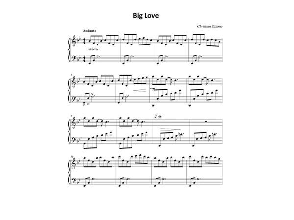 Big Love - Christian Salerno (Spartito per Pianoforte)