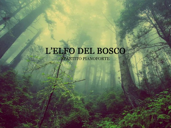 L'elfo del Bosco - Spartito per Pianoforte