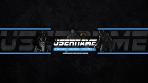 Amateur YouTube Gaming Banner Template