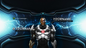 The Cyborg YouTube Channel Banner Template