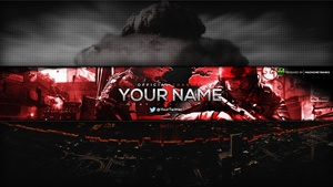 This is War... YouTube Channel Banner Template