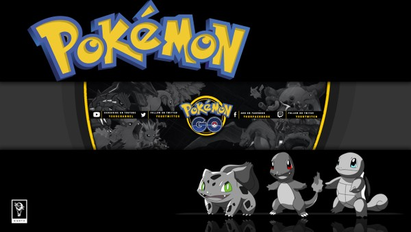Pokemon GO YouTube Channel Banner Template