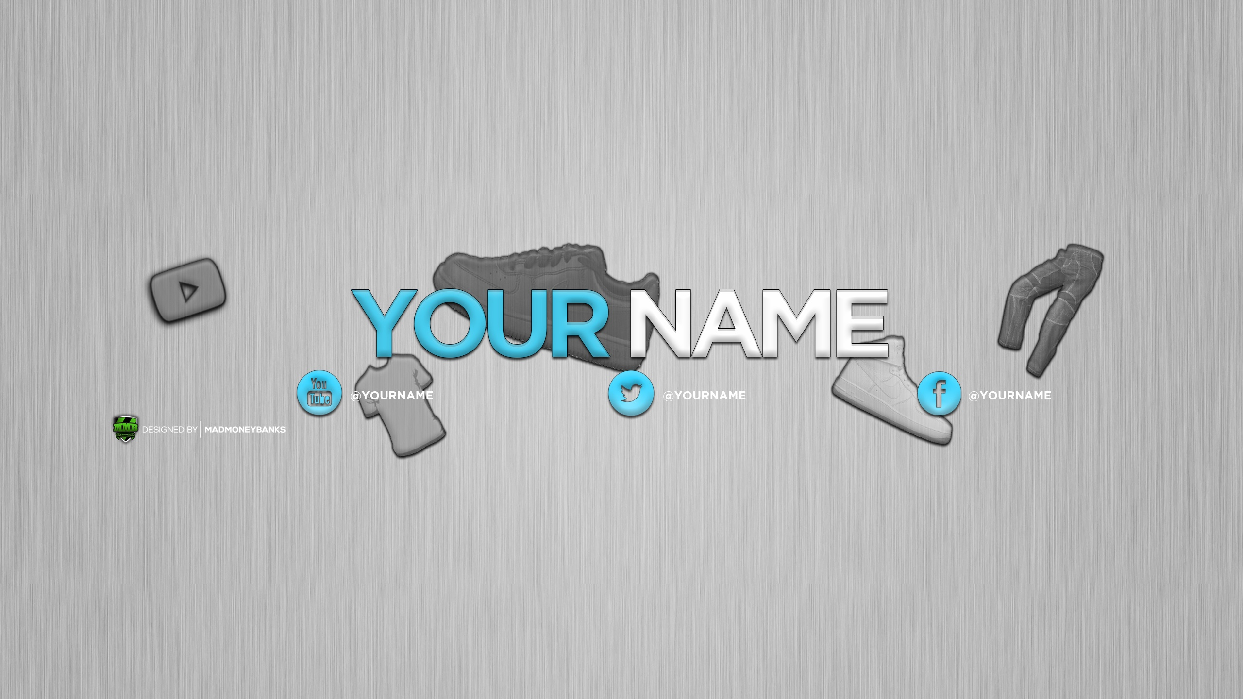 stone frame youtube channel art banner template photoshop free