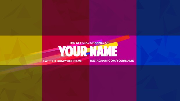 Flying Colors YouTube Channel Banner Template