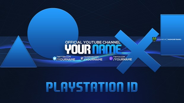 Youtube Channel Banner Template | Playstation Youtube Channel Banner Template