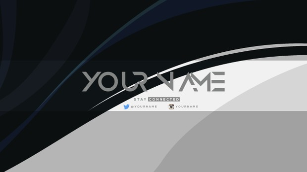 Swoosh YouTube Channel Banner Template