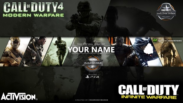 Call of Duty World League YouTube Channel Banner Template