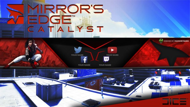 Mirror's Edge Catalyst YouTube Channel Banner Template