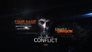 The Division Conflict YouTube Channel Banner Template