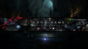 Bloodborne YouTube Channel Banner, Twitter Header & Avatar Templates
