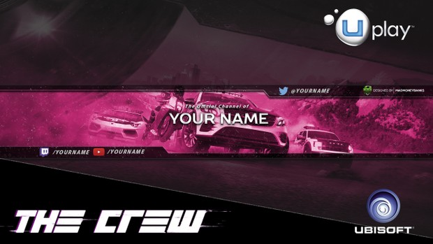The Crew YouTube Channel Banner Template